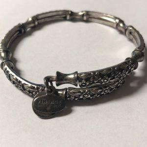 Alex and Ani Vintage Sixtysix silver tone bracelet